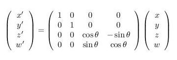 4D rotation matrix equation